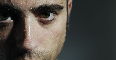 nervous sweaty man article